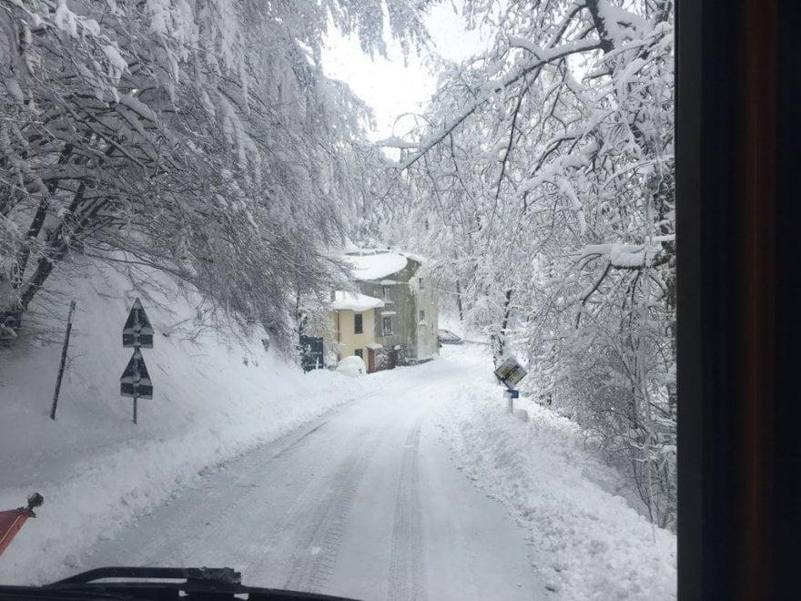 Maltempo, nevica in Alto Mugello e Val di Sieve
