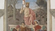 La Resurrezione di Piero della Francesca prima    e dopo il restauro  foto