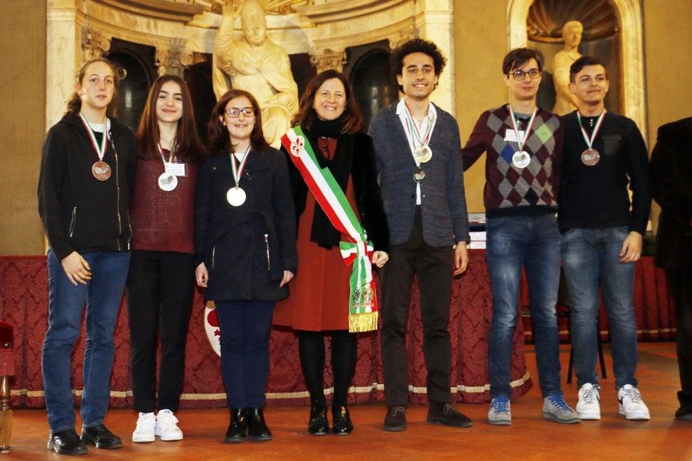 Firenze, Olimpiadi di italiano: la cerimonia di premiazione nel Salone dei Cinquecento