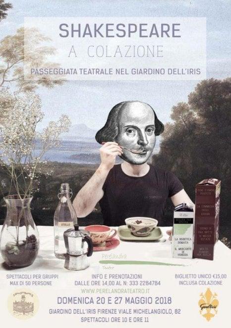 Firenze, al giardino dell'Iris: Shakespeare a colazione