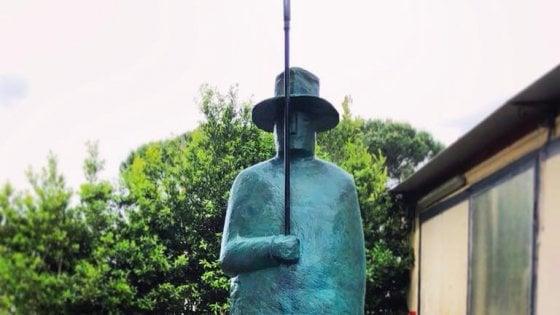 Firenze, la statua di Folon torna alla rotonda dell'Obihall