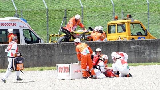 Moto Gp in Mugello, incidente per il pilota della Ducati Michele Pirro