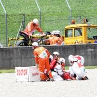 Moto Gp in Mugello, incidente per il pilota della Ducati Michele Pirro