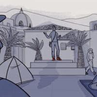 Cartoline da Lesbo, la storia di Iman: da volontario per i rifugiati a rifugiato