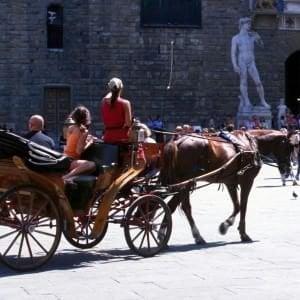 Firenze, manifestazione animalista contro i fiaccherai