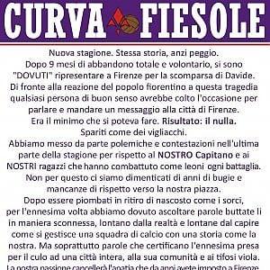 """Fiorentina, duro comunicato della curva Fiesole: """"I Della Valle se ne devono andare"""""""