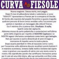 Fiorentina, duro comunicato della curva Fiesole: