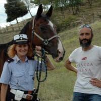Dopo 21 anni va in pensione Albert, il cavallo della polizia municipale