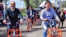 """Olandiamo in bici, la """"pedalata arancione""""    per le strade di Firenze"""