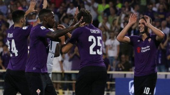 Tris viola al Franchi, la Fiorentina vince contro la Spal