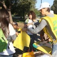 Giardino di via Allori e dintorni, più di cento volontari a #oggiraccolgoio