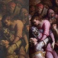 Firenze, nella basilica di Santa Croce torna a splendere la pala del Vasari