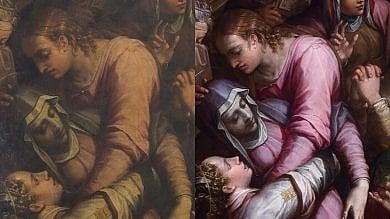 Nella basilica di Santa Croce torna  a splendere la pala del Vasari