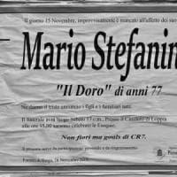 Lucca, sul manifesto funebre fa scrivere: