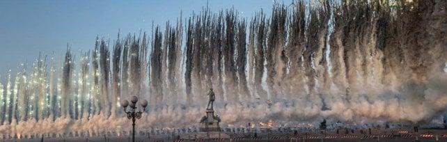 I fuochi d'artificio di Cai Guo Qiang: meraviglie e stupore nel cielo di Firenze -  foto -   video