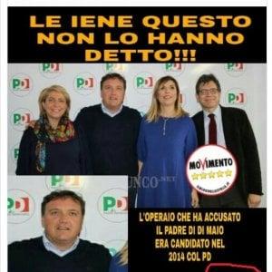 """La fake news sul caso Di Maio: """"L'operaio era candidato con il Pd"""""""