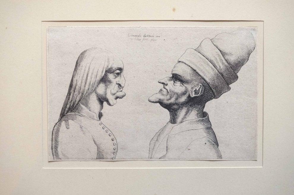 A Vinci Leonardo disegnato da Hollar
