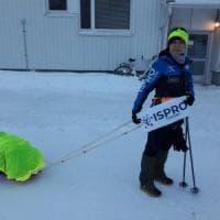 Una sfida lunga 150 chilometri, la maratona di Monica tra i ghiacci della