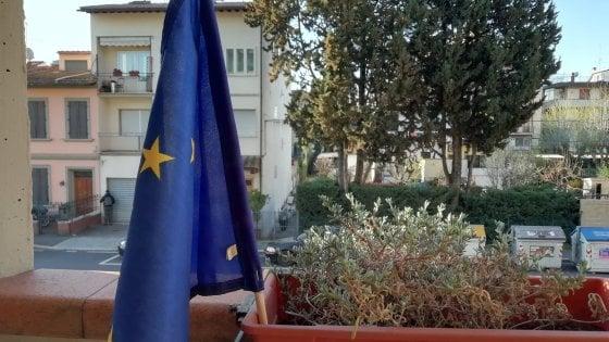 La bandiera dell'Europa sui balconi: Firenze accoglie l'invito di Romano Prodi