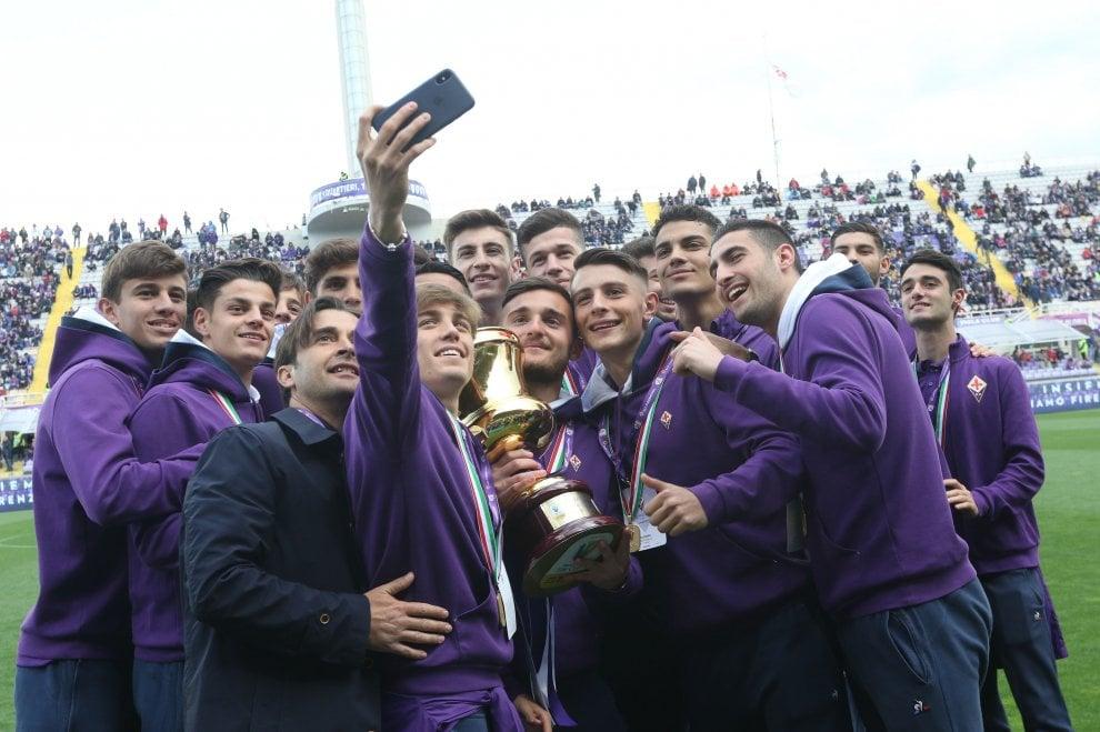 I festeggiamenti per la Fiorentina Primavera