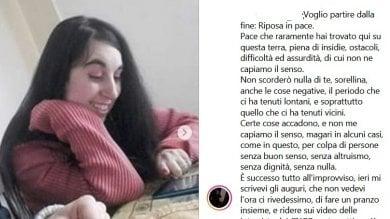 """Arezzo: """"Addio sorellina, non scorderò nulla di te"""" scrive il fratello della ragazza morta nell'incidente a Cervia"""
