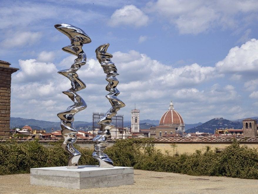 Firenze, le sculture di Tony Cragg invadono il giardino di Boboli