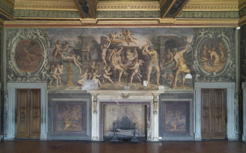 Firenze, concluso il restauro della Sala degli Elementi di Palazzo Vecchio
