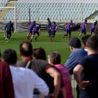 Fiorentina, in mille all'allenamento a porte aperte al Franchi