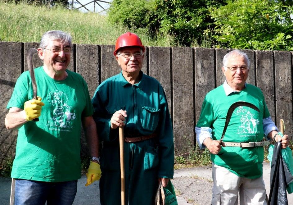 Liberi dai rifiuti, i volontari in azione alle Scotte dei Siena