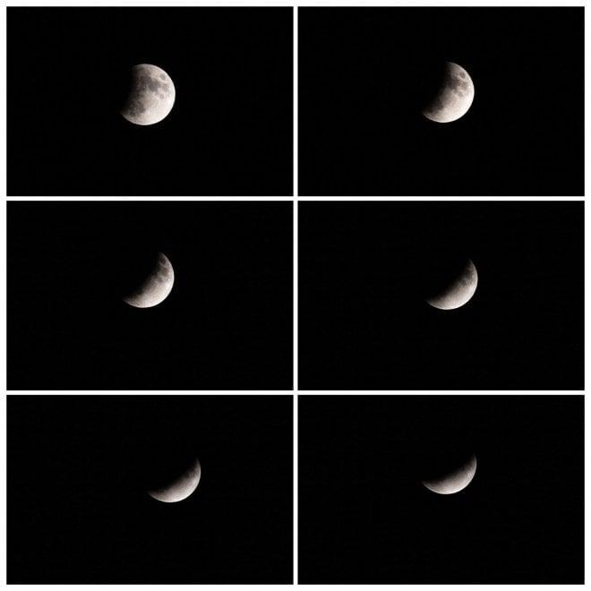 Eclissi lunare luglio 2019: la magica sequenza catturata dall'obiettivo