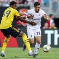 Fiorentina, sconfitta con l'Arsenal e volo nel New Jersey