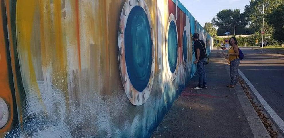 """Firenze, ecco """"Corto Piaggese"""": storie e colori in un murales"""