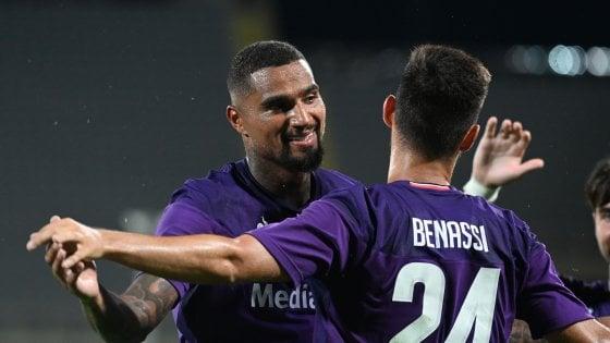 Il primo gol di Boateng e il sigillo di Simeone, il debutto-show della Fiorentina