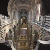 L'arte sotto i piedi. Torna visibile il pavimento delle meraviglie del Duomo di Siena