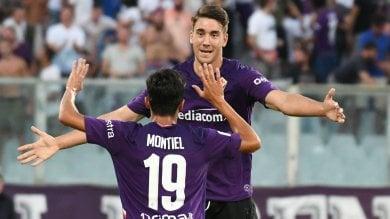 Gol e assist, contro il Monza  Firenze scopre Vlahovic e Montiel