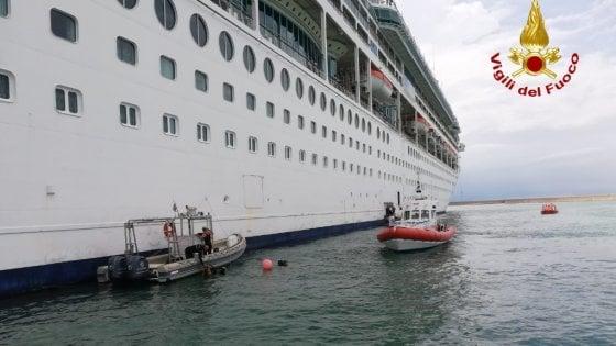 Marinaio muore cadendo da nave da crociera nelle acque del porto di Livorno