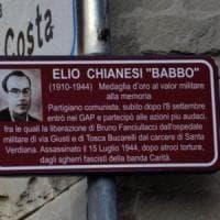 Divelta targa antifascista nel Fiorentino, l'Anpi: