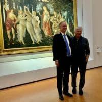 Firenze, Richard Gere tra i capolavori degli Uffizi