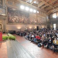 Nel Salone dei Cinquecento il saluto alle matricole dell'Università di Firenze