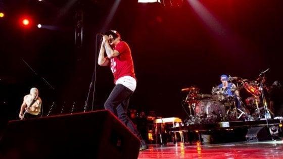 I Red Hot Chili Peppers sul palco di Firenze Rocks 2020