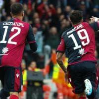Cagliari-Fiorentina, le immagini del primo tempo