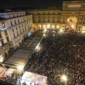"""Firenze, manifestazione delle """"sardine"""": """"Siamo quarantamila"""""""