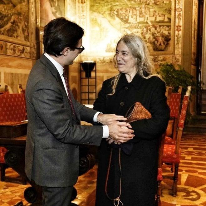 Firenze, Patti Smith in visita a Palazzo Vecchio