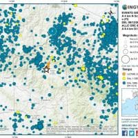 Terremoto nel Mugello, la mappa delle scosse