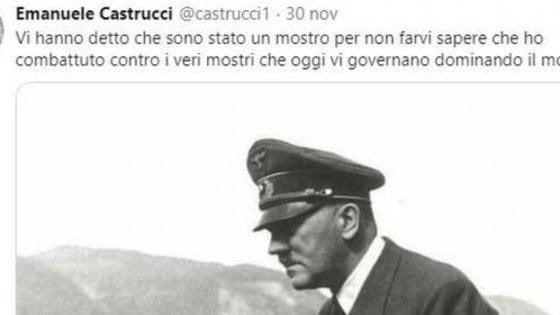 """Il prof di Siena che inneggiava a Hitler su Twitter: """"Chiuso mio account"""""""