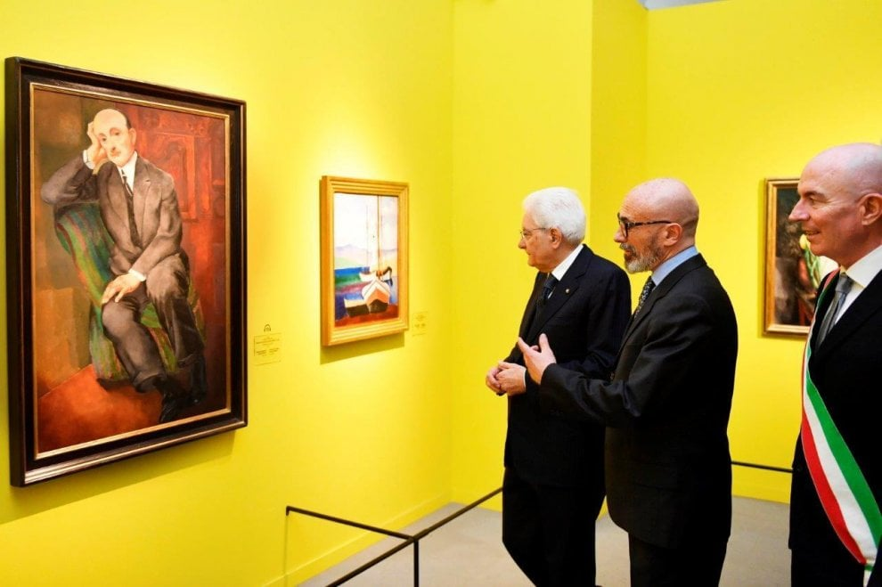 Livorno, il presidente Mattarella visita la mostra dedicata a Modigliani