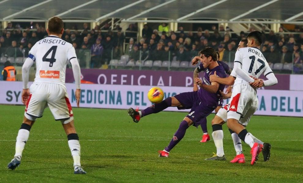 Fiorentina-Genoa, al Franchi finisce con un pareggio. Il foto-racconto della partita