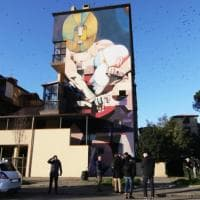 Firenze, la street art invade via Rocca Tedalda