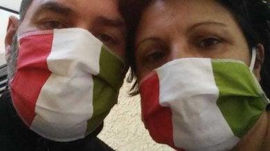 Coronavirus, le mascherine tricolori di Marina