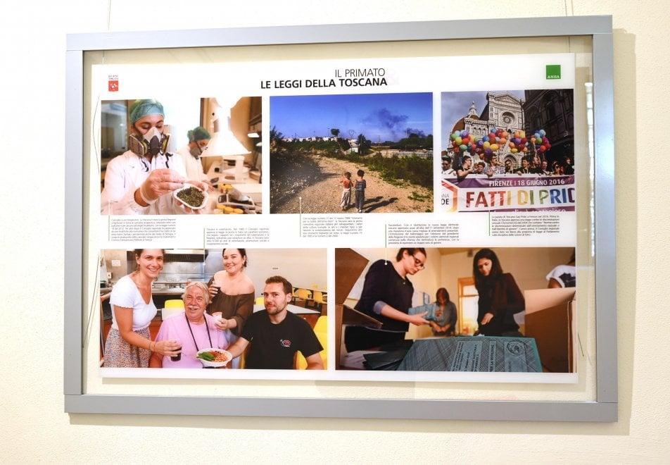 Firenze, in mostra: 50 anni di storia della Toscana raccontata dall'Ansa